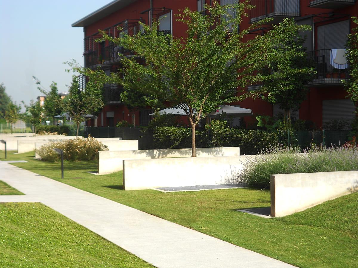 Geometrie in giardino - Abbiategrasso - architetto Giuliana Gatti